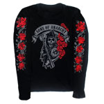 Reaper Roses - Sons Of Anarchy Juniors Long Sleeve T-shirt