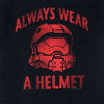 Always Wear A Helmet - Halo T-shirt