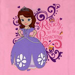 Ready To Be A Princess - Sofia The First Girls T-shirt