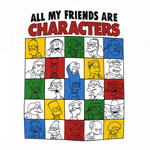 All My Friends Are Characters - Simpsons T-shirt