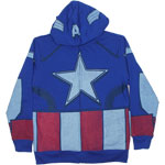 Captain America Costume - Marvel Comics Youth Hooded Sweatshirt