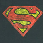 Distressed Superman Logo - DC Comics T-shirt