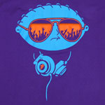 Stewie With Head Phones - Family Guy T-shirt  