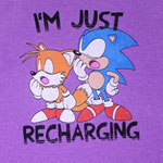 I'm Just Recharging - Sonic The Hedgehog T-shirt