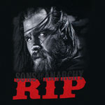 RIP Opie - Sons Of Anarchy Juniors V-Neck T-shirt