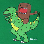 Riding Dino - Domo-Kun T-shirt