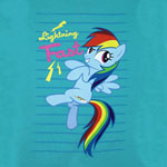 Lightning Fast - My Little Pony Girls T-shirt