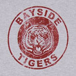 Bayside Tigers Logo On Gray - Saved By The Bell Sheer T-shirt
