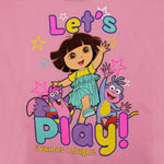 Let&#039;s Play! - Dora The Explorer Girls T-shirt