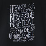 Hearts Will Never Be Practical - Wizard Of OZ Juniors T-shirt