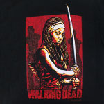 Michonne Sketch - Walking Dead T-shirt