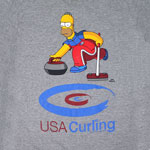 Homer Curling - Simpsons T-shirt