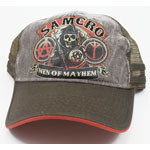 Gray Mayhem - Sons Of Anarchy Trucker Hat