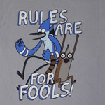 Rules Are For Fools! - Regular Show T-shirt