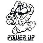 Power Up Mario - Nintendo Sticker