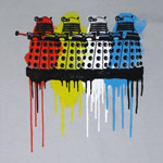 Rainbow Daleks - Dr. Who T-shirt
