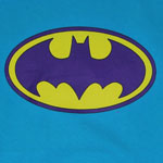 Batman Logo On Teal - DC Comics Youth T-shirt