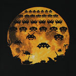 Moon Invasion - Space Invaders T-shirt
