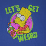 Let&#039;s Get Weird - Simpsons Sheer T-shirt