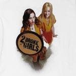 Two Broke Girls Sheer Women's T-shirt