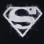 Chalk Superman Logo - DC Comics T-shirt
