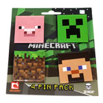 Four Blocks - Minecraft Pins