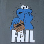 Cookie Fail - Sesame Street Sheer T-shirt