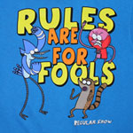 Rules Are For Fools! - Regular Show Youth T-shirt