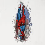 Ripping Through Shirt - Marvel Comics Youth T-shirt