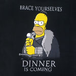 Dinner Is Coming - Simpsons T-shirt
