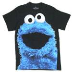 Big Photo Cookie Monster - Sesame Street T-shirt