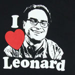 I Heart Leonard - Big Bang Theory Sheer Women's T-shirt