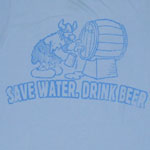 Save Water Drink Beer - Hagar The Horrible Sheer T-shirt
