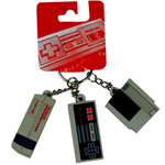 Console, Controller, Cartridge - Nintendo Keychain