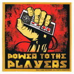 Power To The Players - Nintendo Sticker