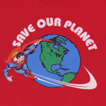 Save Our Planet - Superman - DC Comics Sheer T-shirt