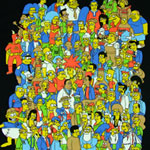 Simpsons Group With Glowing Homer - Simpsons T-shirt