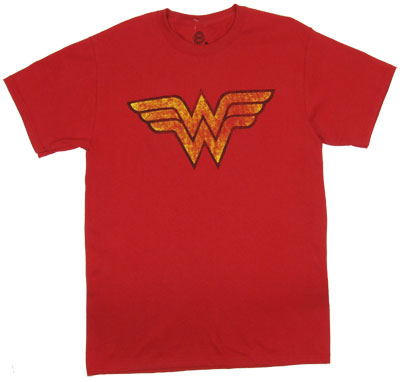 Distressed Wonder Woman Logo - DC Comics T-shirt
